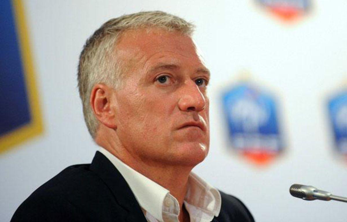 Didier Deschamps lors de sa conférence de presse à la FFF, le 9 juillet 2012 – ANTONIOL ANTOINE/SIPA