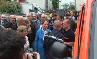 Ségolène Royal en déplacement à Nemours le 1er juin 2016