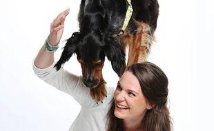Juliette et son chien Charlie.