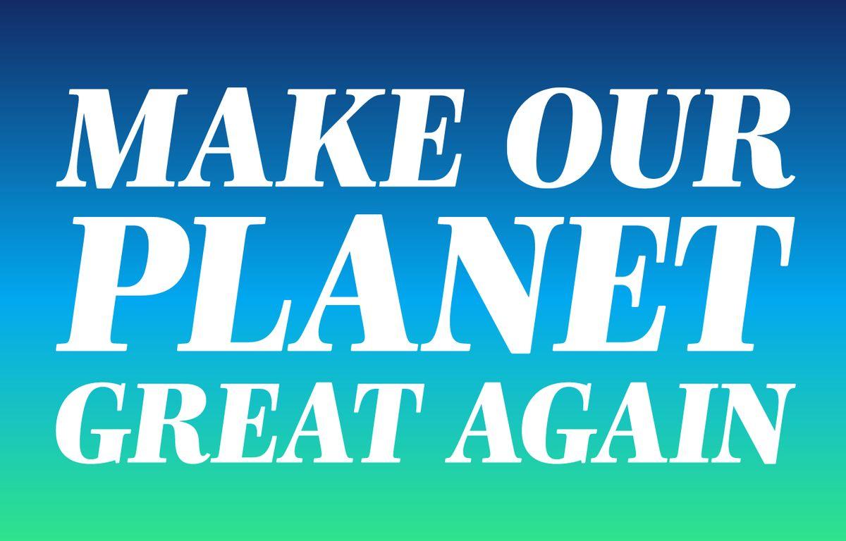 Capture d'écran du site Make our planet great again. – Capture d'écran