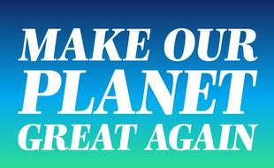 Capture d'écran du site Make our planet great again.