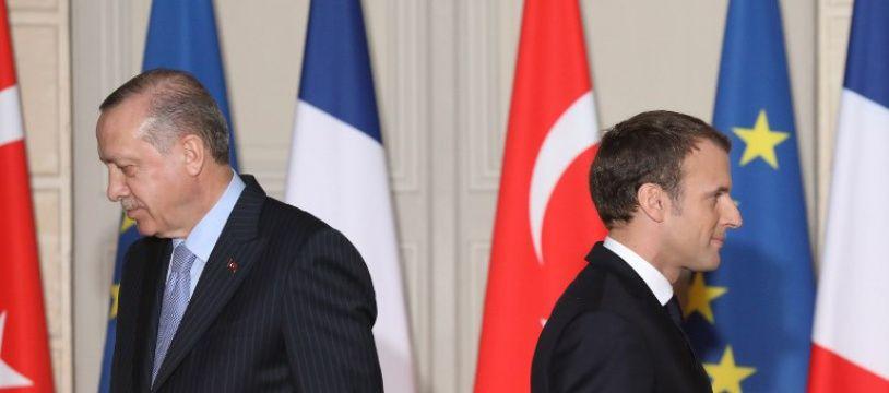 Le président français Emmanuel Macron et son homologue turc Recep Tayyip Erdogan le 5 janvier 2018 à l'Elysée.