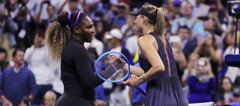 Serena Williams a sèchement battu Maria Sharapova au premier tour de l'US Open, le 26 août 2019.