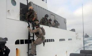 Photo fournie par le service de presse de la marine américaine des forces spéciales de la marine américaine en opération le 23 mai 2012 au large de San Diego