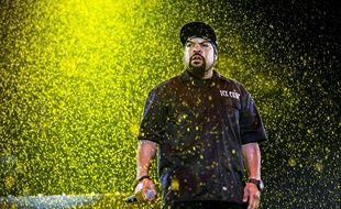 Ice Cube, sous la pluie au festival de Québec le 9 juillet.