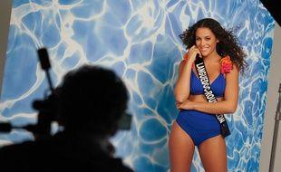 Illana Barry, lors d'un shooting pour l'élection Miss France
