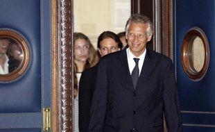 Clearstream: Dominique de Villepin arrive au Palais de Justice de Paris, lundi 21 septembre.