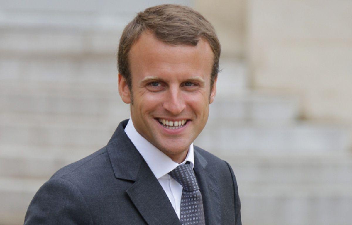 Emmanuel Macron quitte l'Elysée, le 27 août 2014. – PLV/SIPA