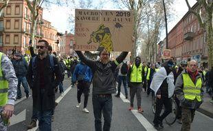 Lors de l'acte 10 des « gilets jaunes » à Toulouse.