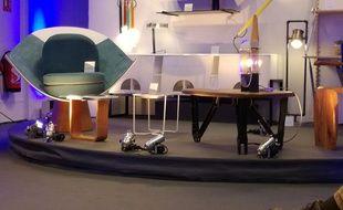 Le showroom avec les premiers prototypes de la gamme.