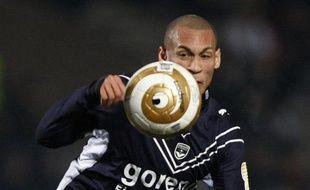 L'attaquant bordelais, Yohan Gouffran, lors d'un match contre Chateauroux en Coupe de la Ligue, le 14 janvier 2009.