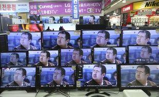 Des télévisions montrent Kim Jong-Nam, demi-frère assassiné en Malaisie du leader coréen Kim Jong-Un.