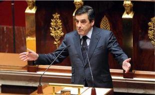 Le Premier ministre François Fillon lors de son discours, hier, à l'Assemblée nationale.