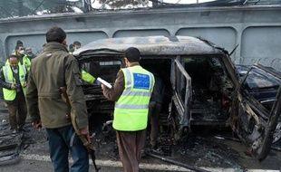 Attentat-suicide contre un véhicule de l'ambassade de Turquie le 26 février 2015 à Kaboul