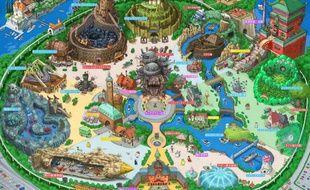 Un parc à thème Ghibli imaginé par l'artiste japonais Takumi.