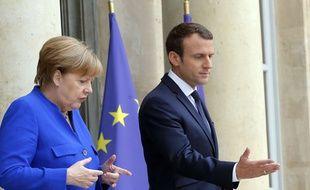 Angela Merkel et Emmanuel le 12 juillet 2017 à l'Elysée.