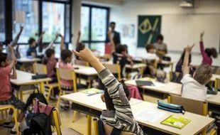 Des élèves dans une école primaire à Lyon