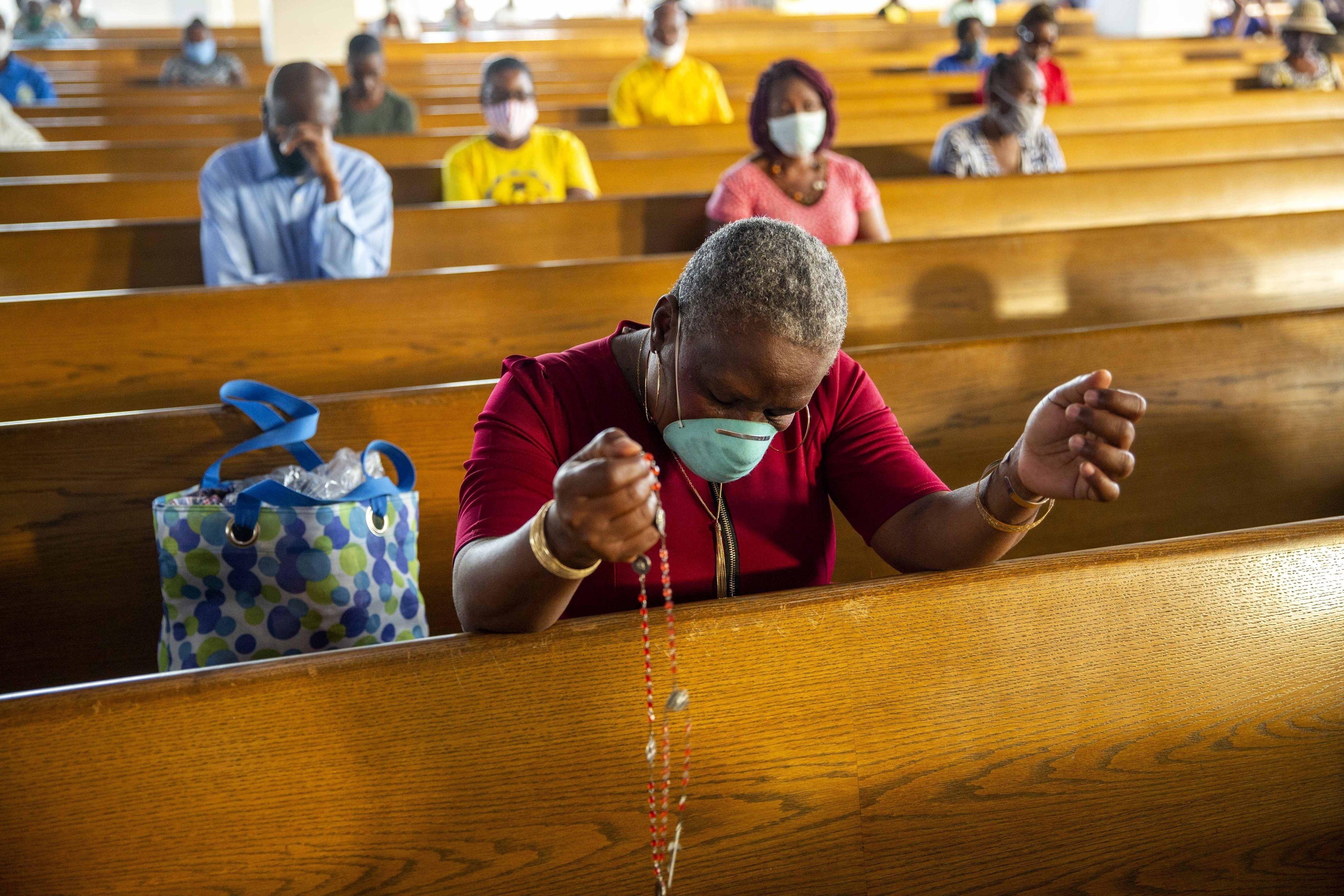 Illustration d'une messe à Haïti, pays très pauvre, très catholique, où sept religieux ont été kidnappés dimanche 11 avril 2021.