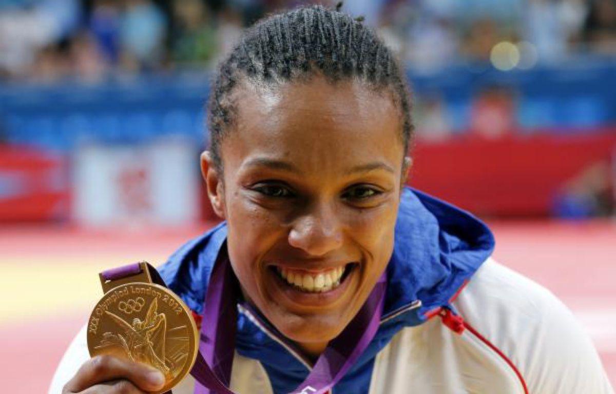 La judoka française, Lucie Décosse, sacrée championne olympique chez les moins de 70kg, le 1er août 2012 à Londres. – K.K.Hoon/REUTERS