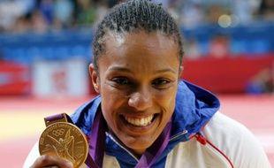 La judoka française, Lucie Décosse, sacrée championne olympique chez les moins de 70kg, le 1er août 2012 à Londres.