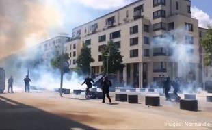 Un homme a été frappé par un policier lors d'une manifestation à Caen.