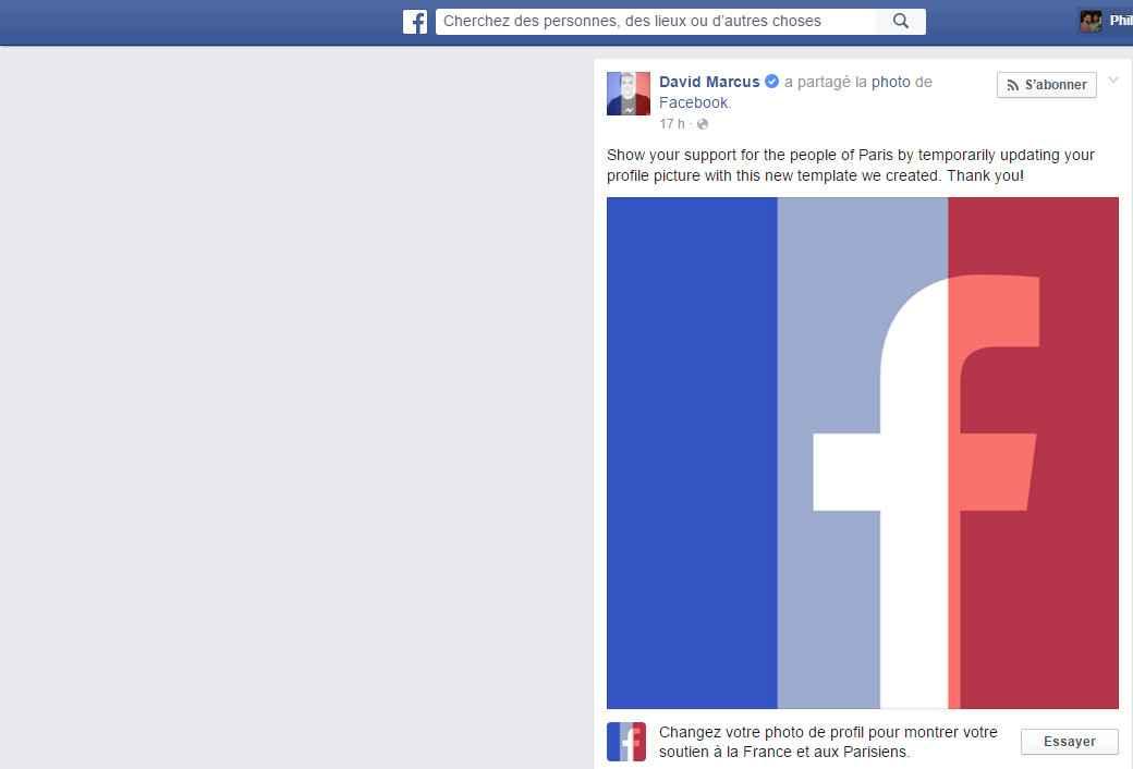 Facebook Attentat Paris