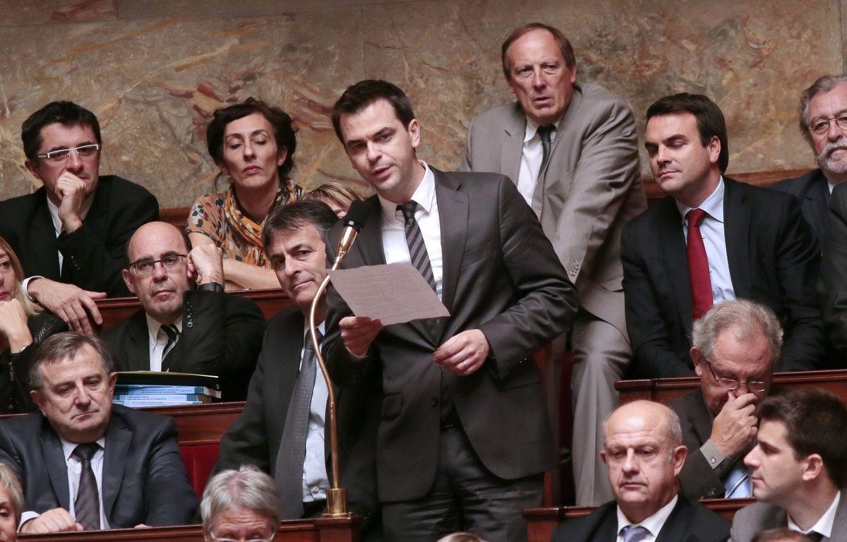 Olivier Véran, le député de l'Isère, prend la parole lors d'une séance de questions au gouvernement, le 24 octobre 2012 à Paris.  – JACQUES DEMARTHON / AFP