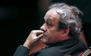 Michel Platini le 28 août 2015, à Monaco.