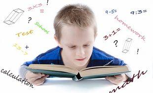 Un élève en cours de maths