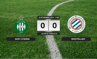 Ligue 1, 14ème journée: Match nul entre l'ASSE et Montpellier (0-0)