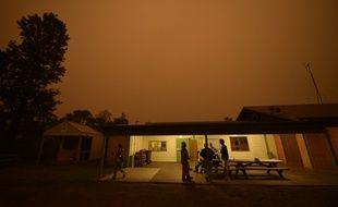 Le ciel noir au dessus de l'Australie pendant ces incendies catastrophiques, ici en Nouvelle-Galle du Sud, près d'Eden.