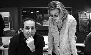 Alexandre Desplat et sa violoniste solo et directrice artistique Solrey.