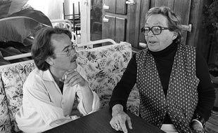 Marguerite Duras et  Yann Andrea, lors du 17ème Festival du «Jeune Cinéma» à Hyères, le 16 septembre 1981.