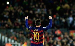 L'attaquant du FC Barcelone Lionel Messi, le 6 janvier 2016 au Camp Nou.