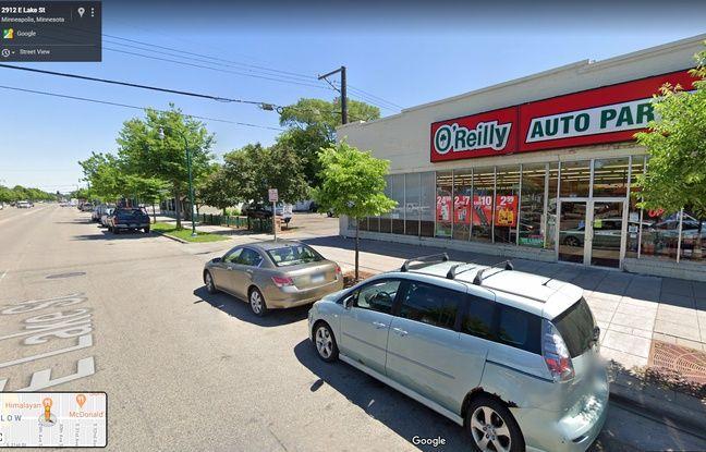 Capture d'écran de Lake Street à Minneapolis.