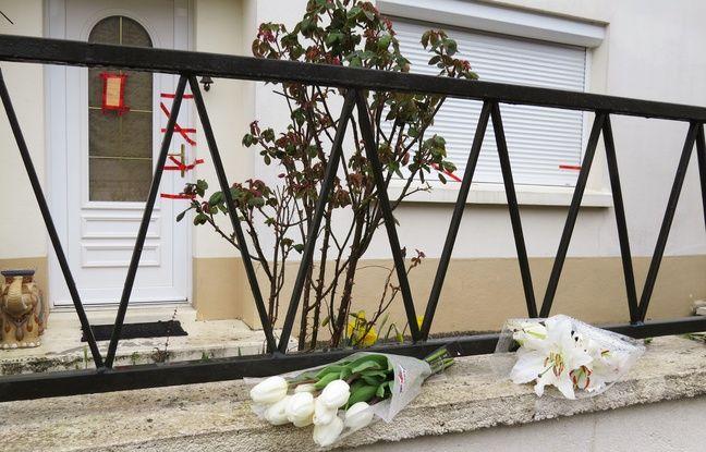 Des anonymes et voisins sont venus déposer quelques fleurs devant la maison des Troadec à Orvault.