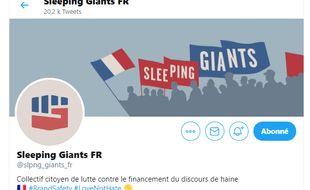 """Les """"sleeping giants"""" (géants endormis) forment un réseau de citoyens qui luttent contre la propagation de la haine sur nternet."""