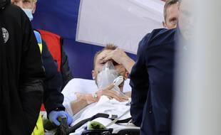 Le joueur danois Christian Eriksen, s'est écroulé après un malaise cardiaque samedi 12 juin, en plein match contre la Finlande à l'occasion de l'Euro 2021. Son état est désormais stable, rapporte la fédération danoise de football. (Illustration) —Il a pu être réanimé et soigné après un malaise cardiaque.
