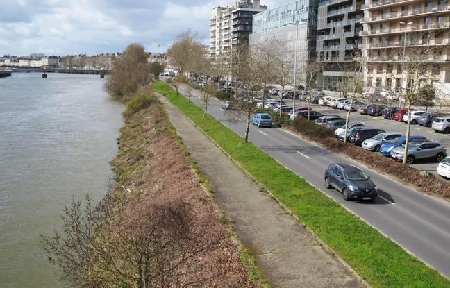 La voie rapide sur berge (ici quai André-Morice) pourrait disparaître d'ici une dizaine d'années.
