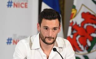 Hugo Lloris à Nice pour fêter le titre de champion du monde, le 18 juillet 2018.