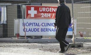 Entrée de la clinique Claude-Bernard à Metz, le 8 novembre 2014