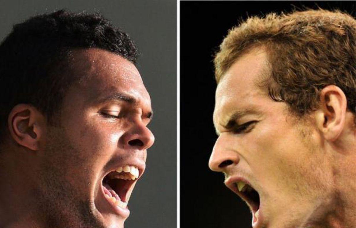 Jo-Wilfried Tsonga et Andy Murray devraient se livrer une furieuse bataille vendredi pour atteindre, pour la première fois de leur carrière, la finale de Wimbledon, chacun y voyant une opportunité à ne pas laisser s'envoler. – Andrew Yates Glyn Kirk afp.com