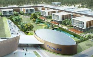 A Bordeaux, le 2 décembre 2014, vue du futur campus industriel du groupe Thalès.