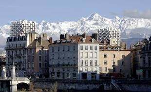 Illustration: Vue de Grenoble. Grenoble, (Isere) FRANCE-16/02/2014. /FAYOLLE_Photo003/Credit:Pascal Fayolle/SIPA/1410230841