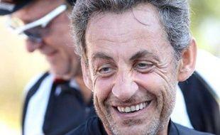 Nicolas Sarkozy le 17 août 2012 près du Cap nègre.