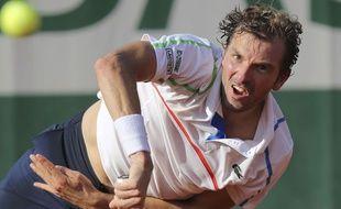 Le Français Julien Benneteau le 26 mai 2014 à Roland-Garros.