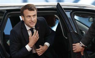 Emmanuel Macron à Bruxelles, le 10 avril 2019.