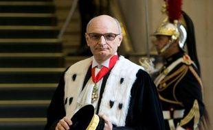 Le premier président de la Cour des comptes Didier Migaud, le 12 janvier 2016 à Paris