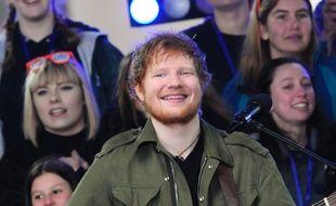 Ed Sheeran sur scène dans le Today Show sur NBC.