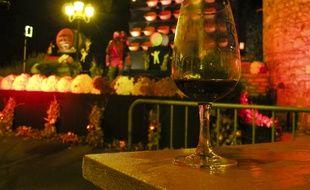 Percée du Beaujolais nouveau à minuit, Beaujeu, percée du Beaujolais nouveau, le 17 novembre 2011. CYRIL VILLEMAIN/20 MINUTES